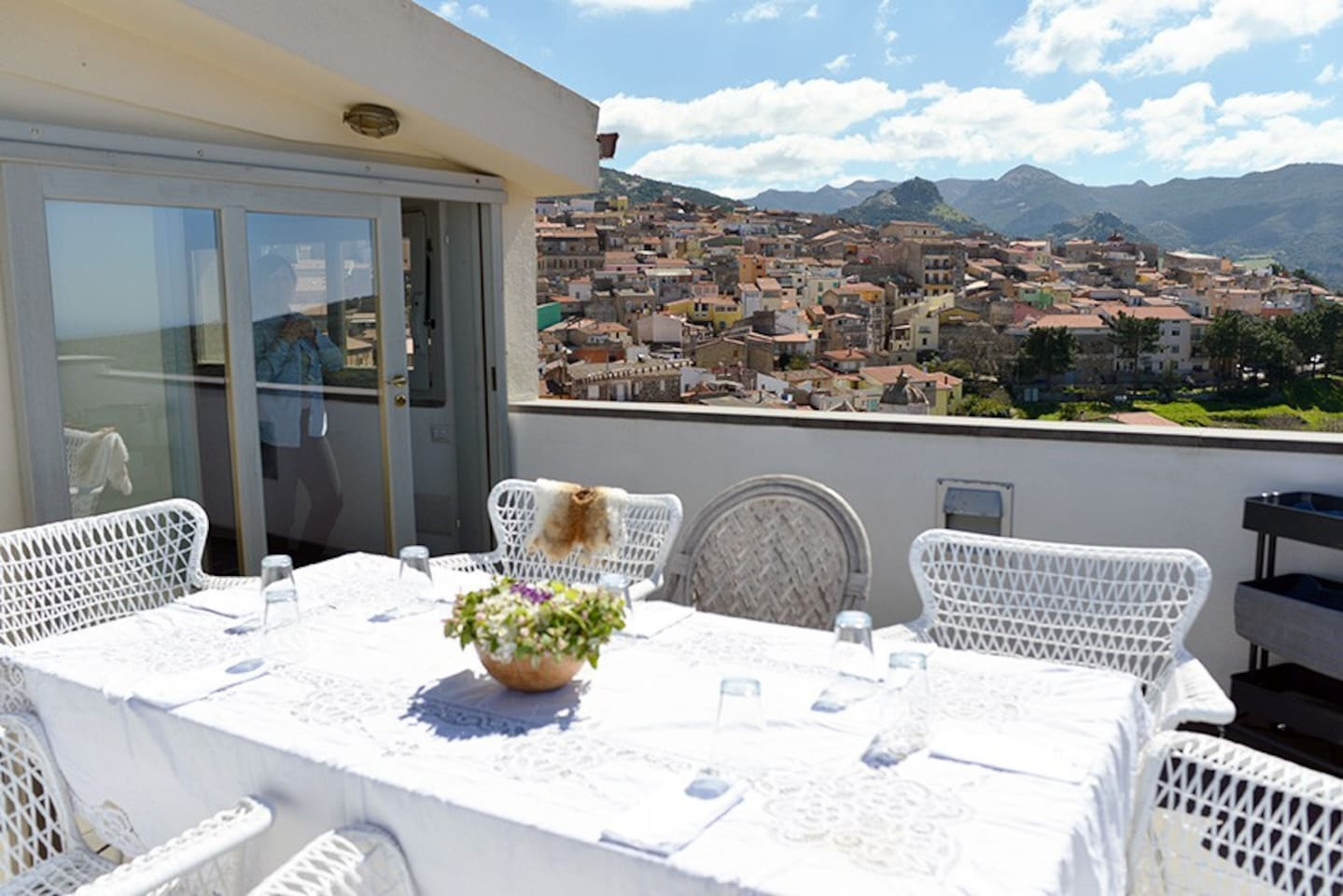 Roof terrace with a panoramic view
