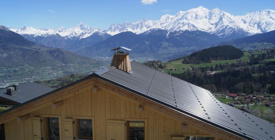 Chalet moderne vue Mont Blanc
