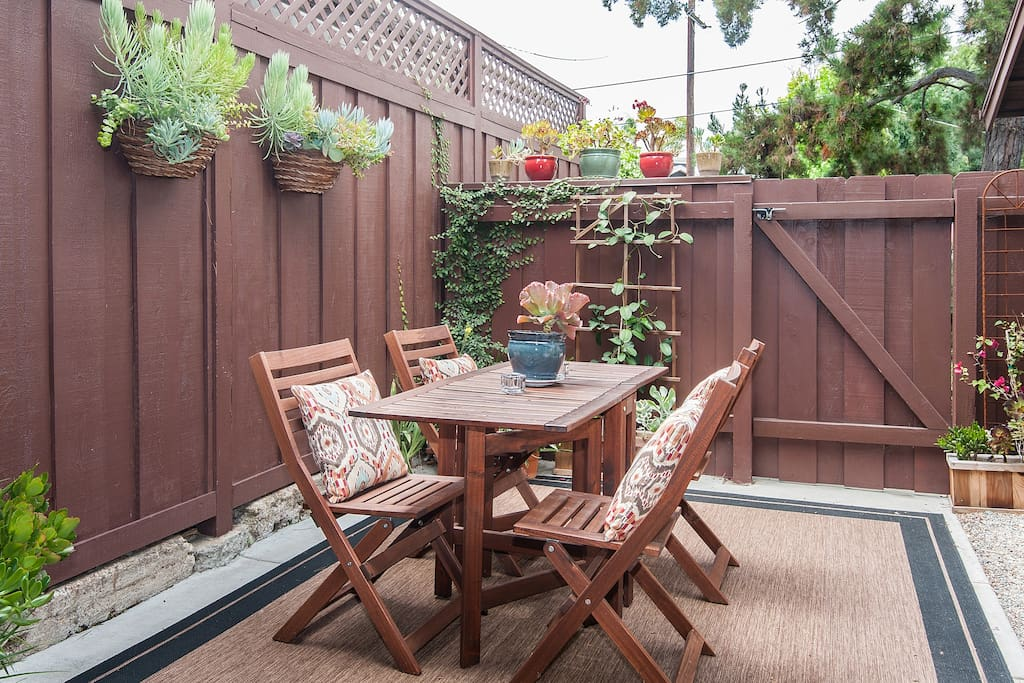 Enjoy breakfast, lunch or dinner on the wonderfully charming patio!