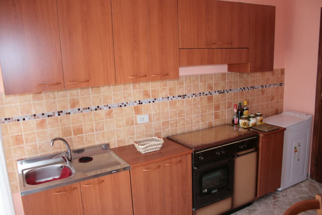 sink and oven and stoves