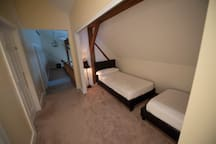 Twin Beds in upstairs alcove