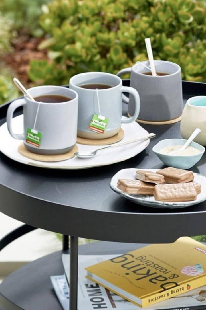 コーヒーや紅茶も美味しい。しかもケアンズ産。
