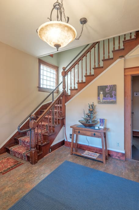 stairs to guestrooms