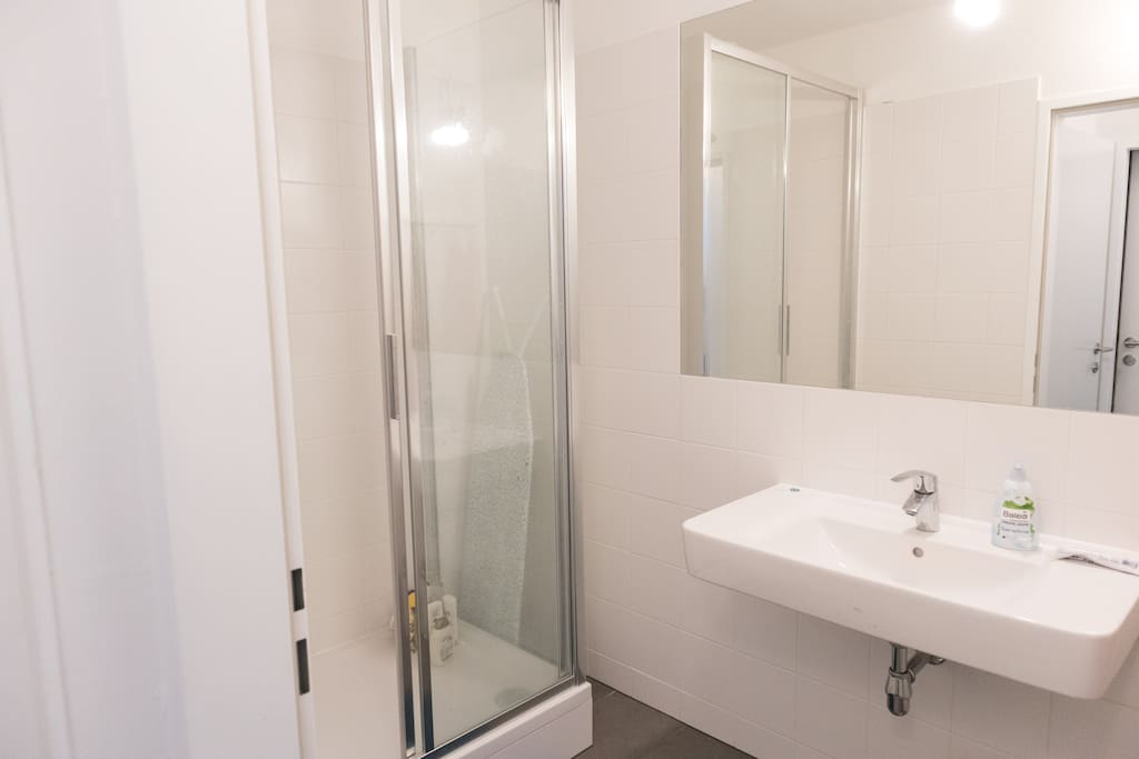 One of two bathrooms you can use and share with the others
