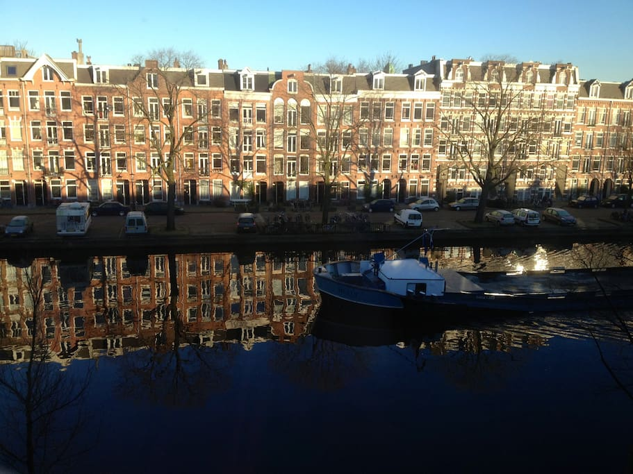 Beautiful canal view from living room