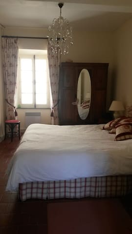 Double room with en-suite bathroom - Félines-Minervois - Dom