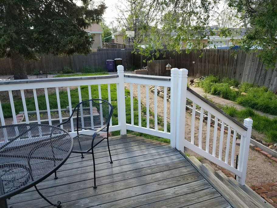 deck just off kitchen and bedroom
