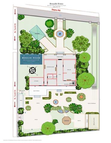 Diagram of the Benachi House Property