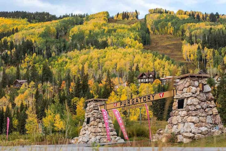 Fall colors now... Ski In & Ski Out in November!