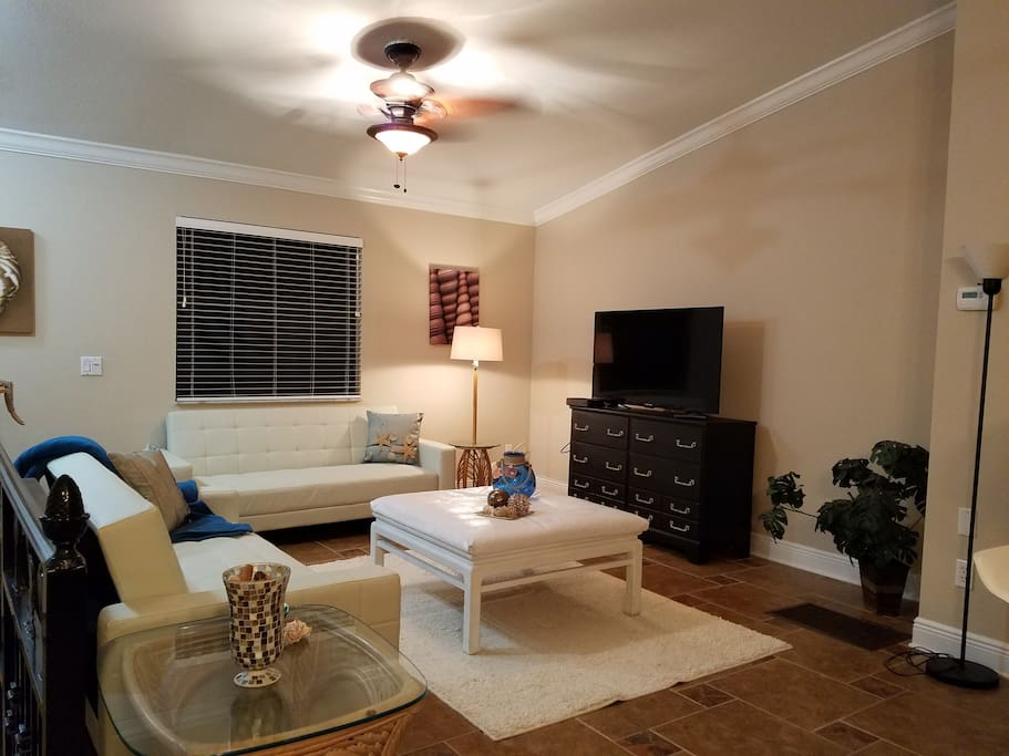 lovely living room with 2 sofa beds