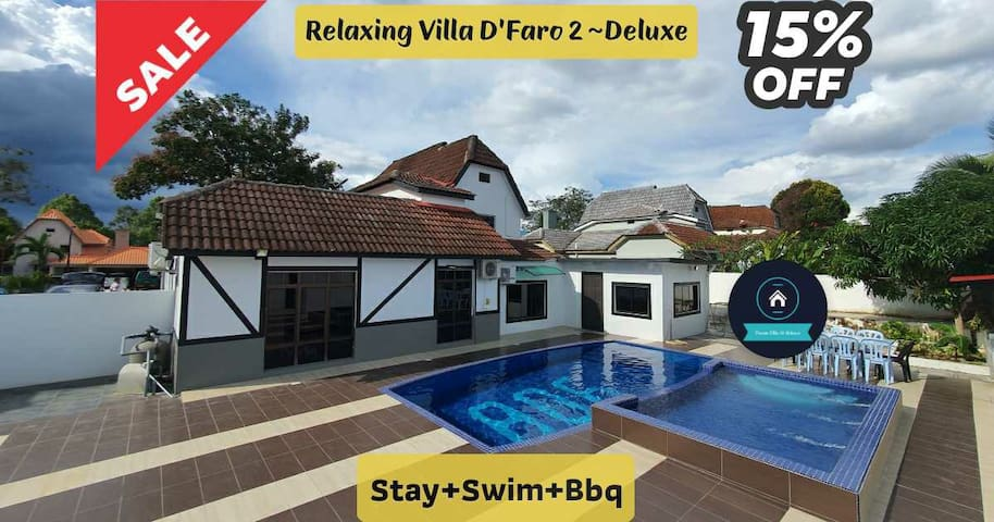 "Relaxing Villa ""D'Faro 2 ~ Deluxe"" ~ Stay+Swim+Bbq"