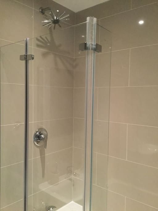 The shower is excellent!