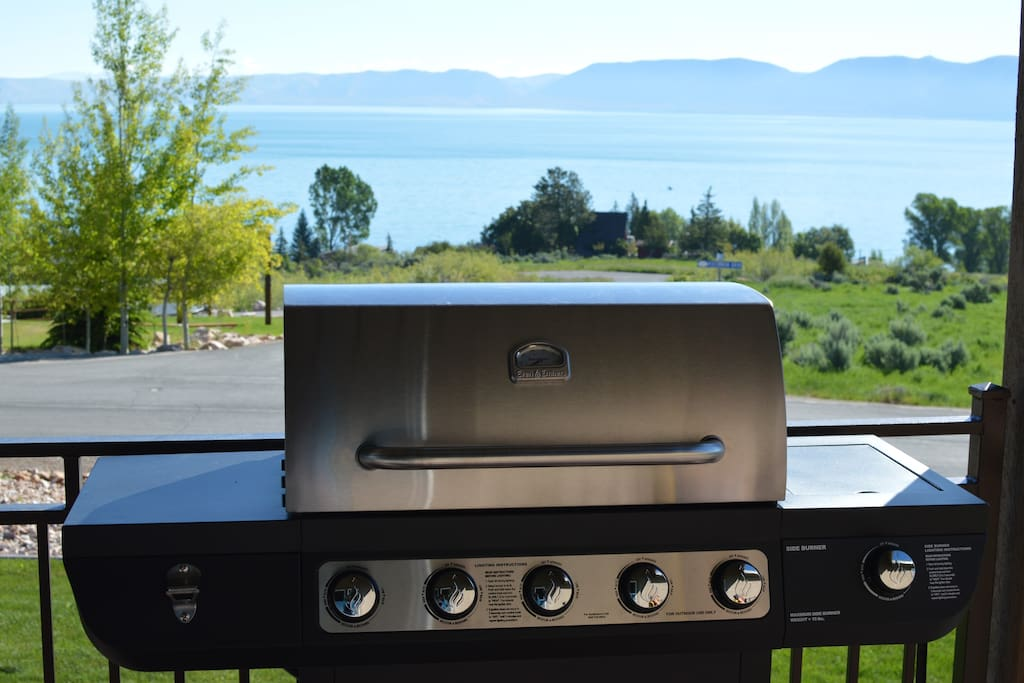 Everyone will be fighting to do the grilling with this view from the deck!