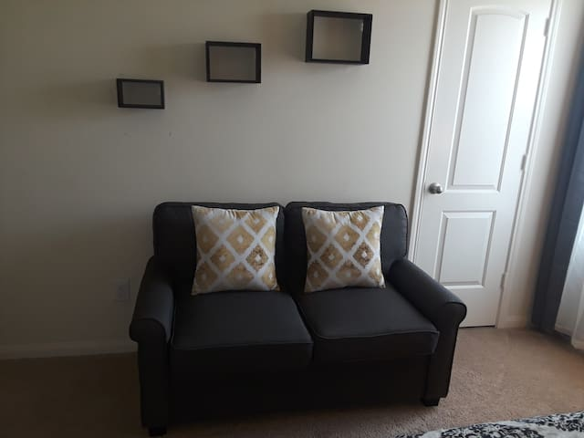 Sofa bed.  Let us know prior to arriving if you would like us to set up the sofa bed.