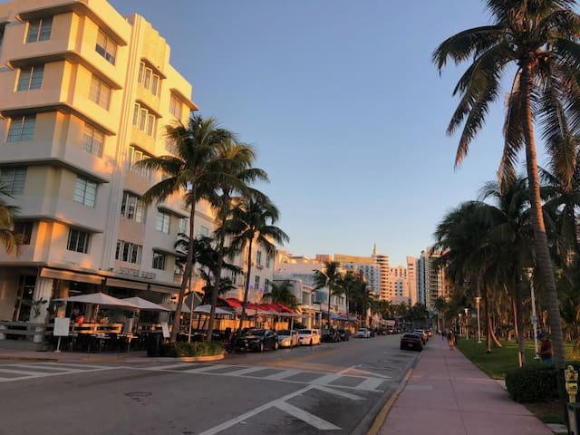 Best location in South Beach! Right on world-famous Collins Ave and just 1 block from Ocean Drive  with tons of restaurants and bars
