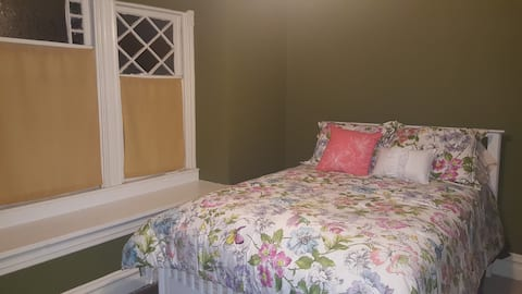 Full-sized bed-new wall colors