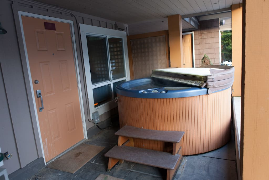 Your clean, maintained, private hot tub.
