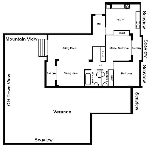 Apartment layout.