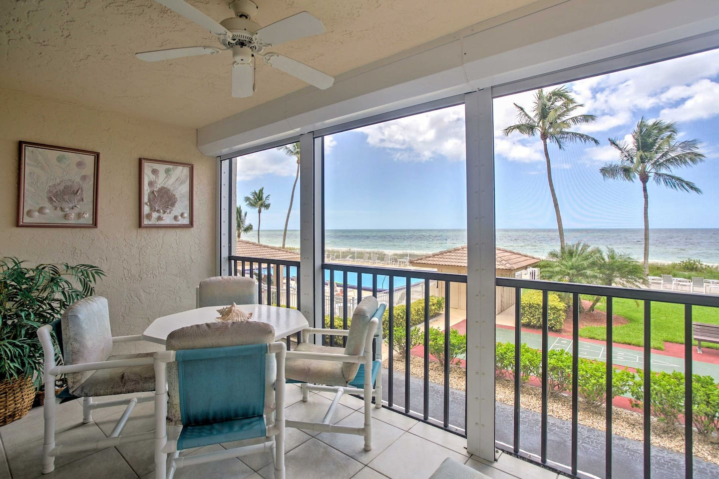 Look forward to a refreshing beach getaway at this oceanfront condo.