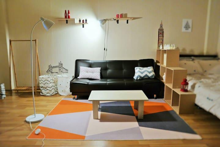 부산역BUSAN Stn2min big room#warm-503# - Dong-gu - Apartamento