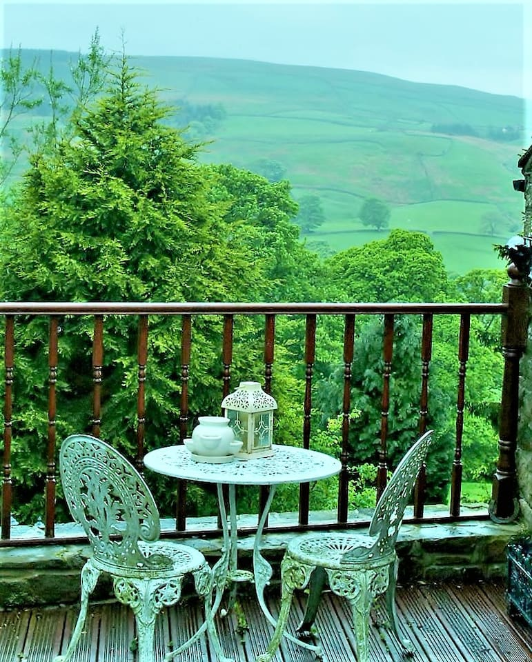 Balcony overlooking the Weardale Valley and Pennines
