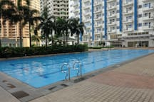 One of the four swimming pools