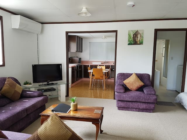 From lounge, easy and seamless entry to kitchen, laundry, bathroom & toilet