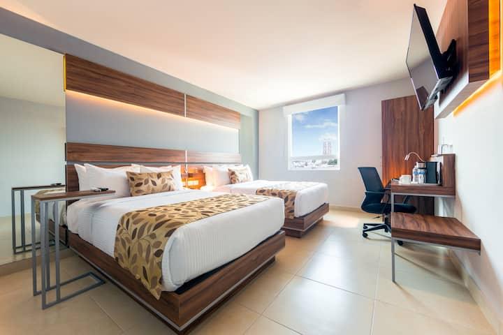 Habitación dos camas Centro villahermosa
