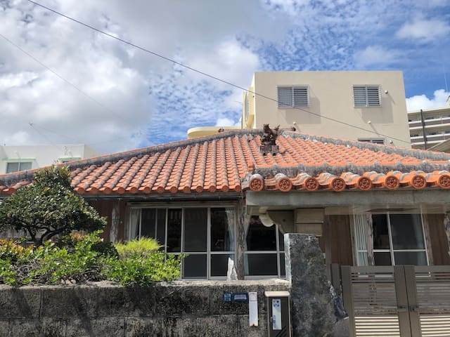 Okinawan Tradional Red Roof House