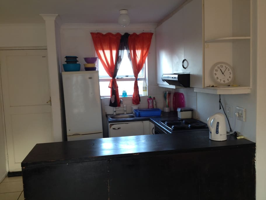 Open plan living space, furnished and fully equipped.