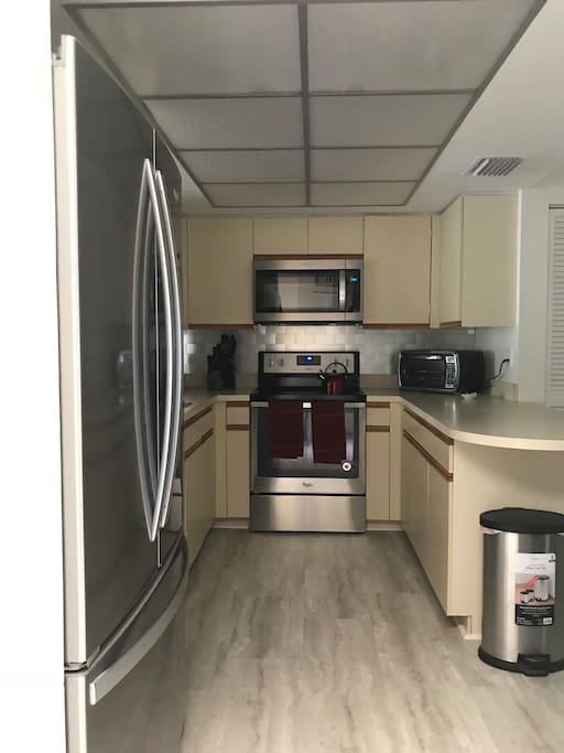 Kitchen with brand new GE appliances