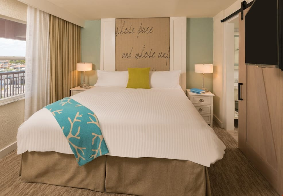 You will love to sink into the luxurious king bed at the end of a fun day.