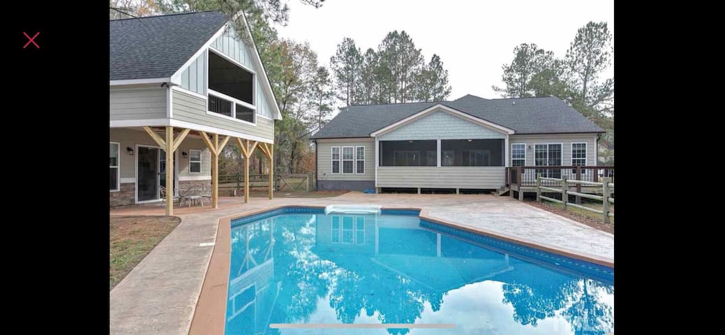 Best Pool House in Triangle - Master Bedroom