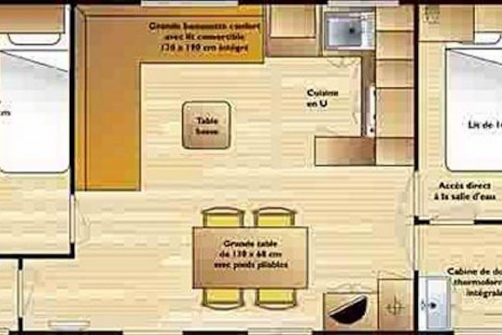 plan intérieur mobile home