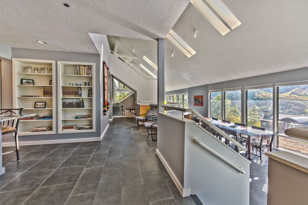 Entry to this Beautiful Contempory Home with a Spacious Kitchen, Expansive Dining Area and Living Room - All with Amazing Views!