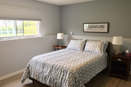 Spacious Basement Bedroom with Private Bathroom.