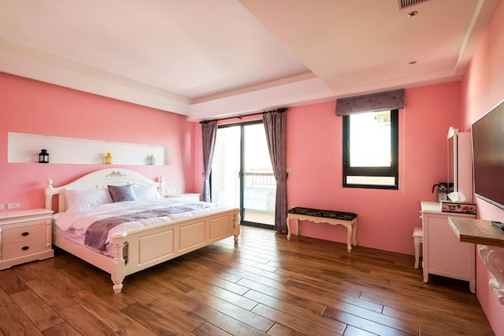 花蓮-好趣淘玫瑰公主雙人加大房-走路約5分鐘 - Hualien City - Villa