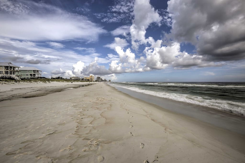 This property places you steps from the sandy shores.