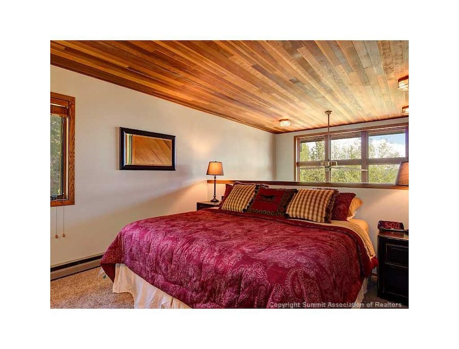 Master suite with king size bed.