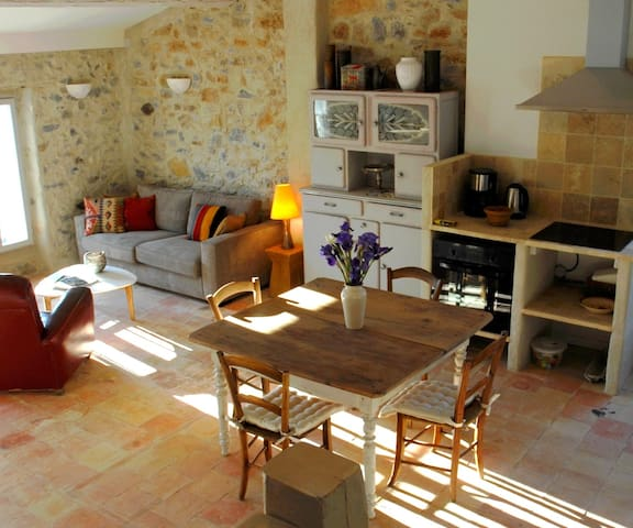 La Rose Pourpre - L'Appartement Supérieur - Lagrasse - Huoneisto