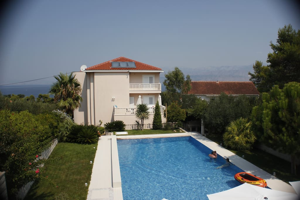 Villa Keti and back side garden with Pool
