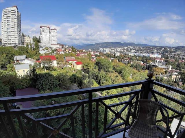Апартаменты у парка Ривьера шикарный вид с балкона