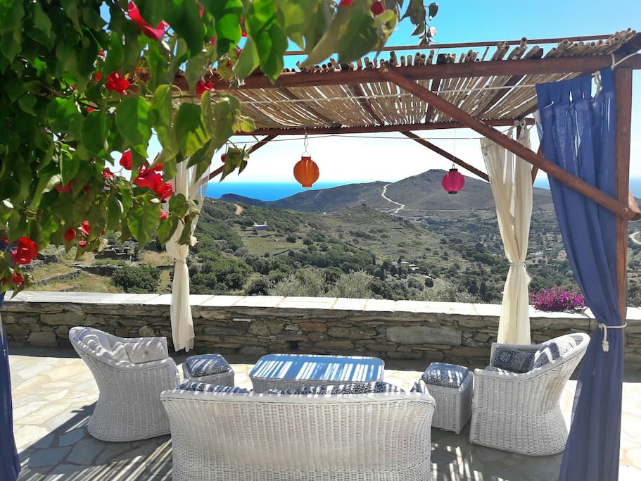 A shady spot of comfort to enjoy the view from