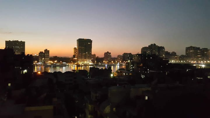 Central Modern Cairo Apartment with Nile View