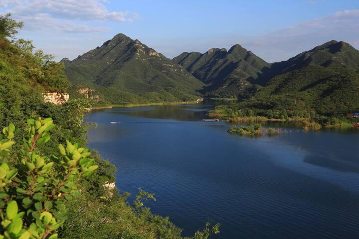 易水湖山顶小院有最好的观景台