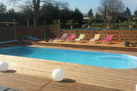 Chambre privée piscine chauffée - Condé-sur-Noireau
