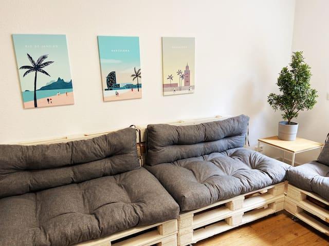 Luxus Wohnung in der Natur / Netflix, Küche & Gym