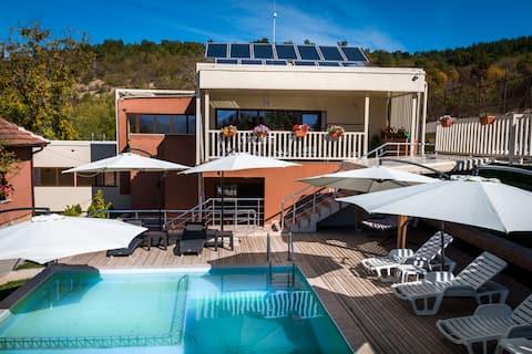 Private villa with a swimming pool