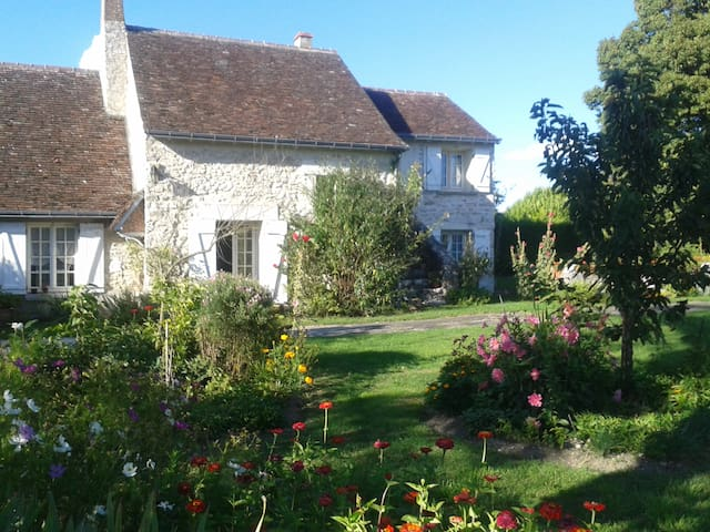 Longère tourangelle avec jardin - Truyes - Dům