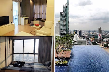 5 Star Luxury River View, Pool, WiFi, Gym, BTS - Bangkok